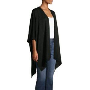 Black Solid Knot Kimono